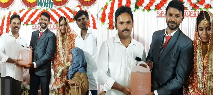 Relatives give newly married TN couple petrol as wedding gift
