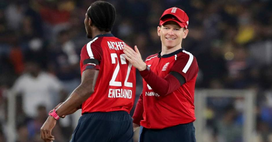 Why Eoin Morgan wearing two caps during the T20Is against India?