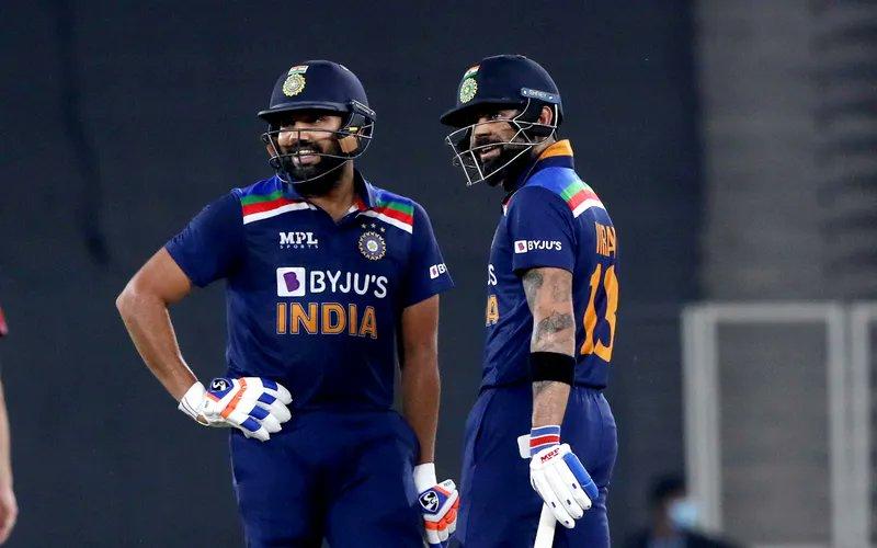 Kohli imitated Rohit Sharma's iconic pull shot at the nets