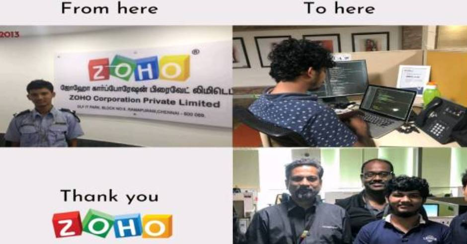 From security guard to tech officer: Zoho employee story goes viral