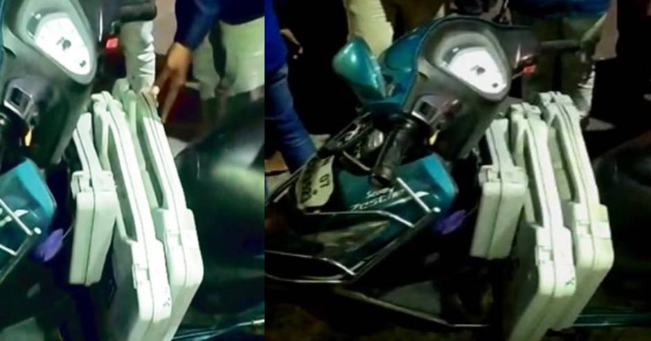 15 votes recorded on the VVPAT machine on the scooter Velachery