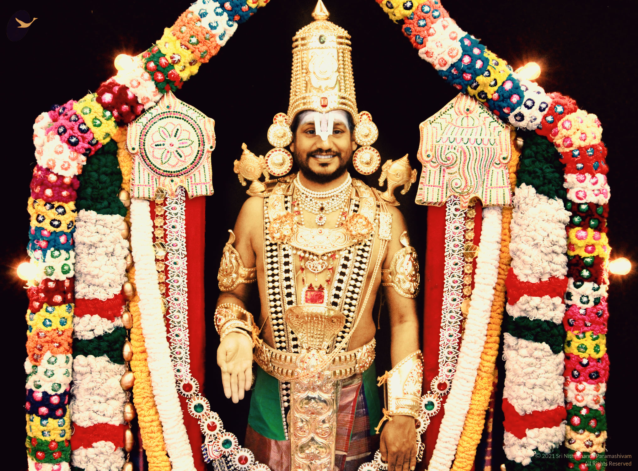 Devotees of Tirupati are Angry with the photo posted by Nithyananda