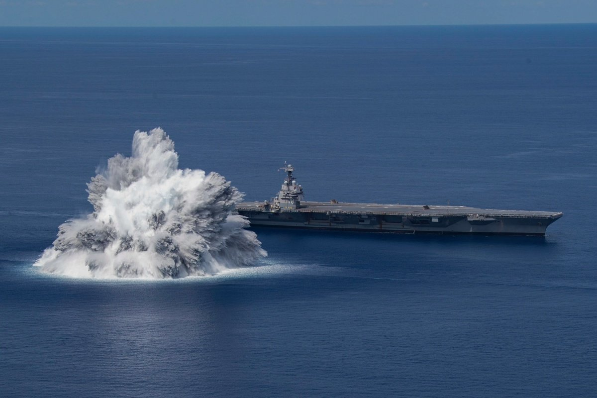 US Navy uses live explosives to check the design of new ships